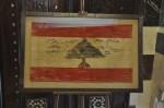 Het eerste ontwerp van de Libanese vlag (Privémuseum Robert Mouawad).