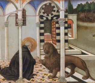 Sano di Pietro, Hieronymus en de leeuw