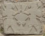 Moderne kopie van een van de Neo-Hettitische orthostaten in Arslantepe