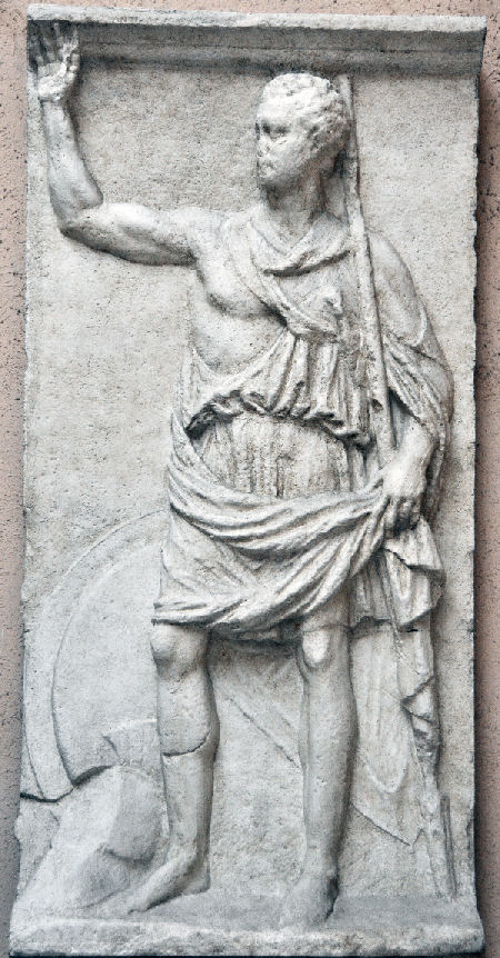 Polybius. Afgietsel uit het Museo nazionale della civiltà romana, Rome