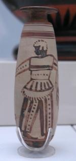 De aanwezigheid van Ethiopiërs in Xerxes' leger maakte indruk op de Grieken. Ze zijn afgebeeld op verschillende stukken aardewerk, zoals dit flesje in het British Museum.