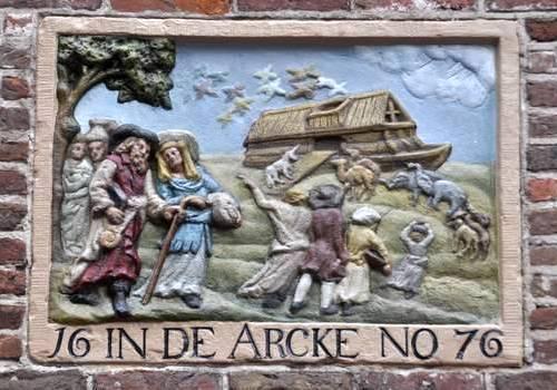 De ark van Noach (Gevelsteen op de Schreierstoren, Amsterdam)