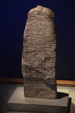 Runen-inscriptie: gedenksteen voor een koning Sigtrygg