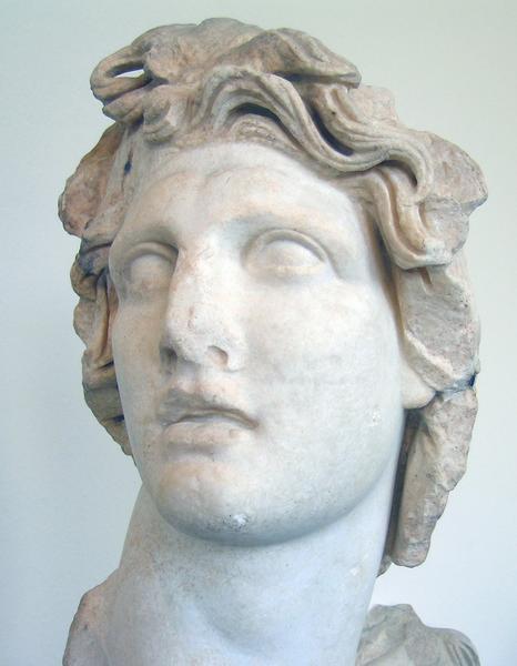 Alexander als Helios (buste uit Rhodos)