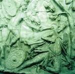 De dood van Decebalus (Zuil van Trajanus)