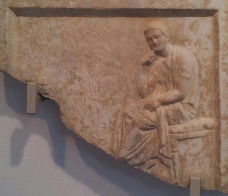 De Griekse dichter Theodoros (Archeologisch Museum Nesebar)