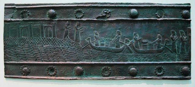 Tyrus betaalt tribuut aan Salmanasser III (British Museum)