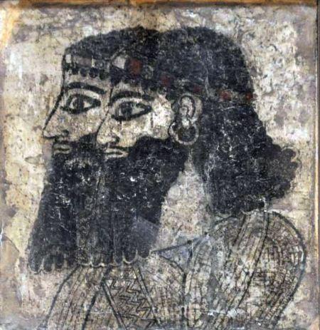 Twee Assyrische hovelingen (Archeologisch Museum, Aleppo)