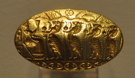 Ring uit Tiryns (Nationaal Archeologisch Museum, Athene)