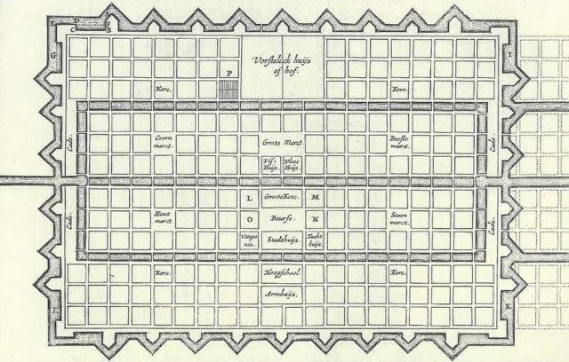 Stevins ideale stad (klik=groot)