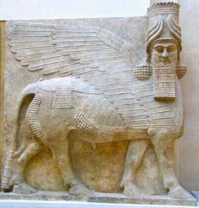 Lamassu uit Khorsabad (nu in het Louvre)