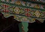 Geschilderde decoratie in de moskee in Margilan