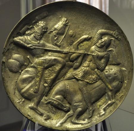 Sassanidische schaal (Museum van Azerbaijan, Tabriz)