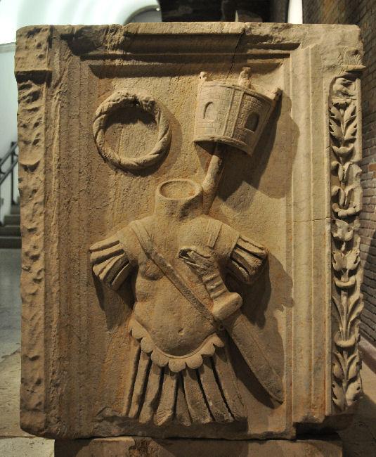 Detail van het grafreliëf van Sulpicius Rufus