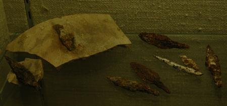 Assyrische pijlpunten, gevonden in Lachis en nu in het British Museum.