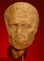 Portret van Caesar uit Nijmegen (nu in het Rijksmuseum van Oudheden)