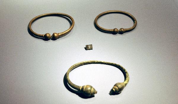 Torques uit Rossum: halssierraden van krijgers. Ze dateren uit de Late Oudheid en zijn, al heel lang geleden, niet ver van het nu geïdentificeerde slagveld gevonden. Tegenwoordig zijn ze in het deze week heropende Rijksmuseum van Oudheden.