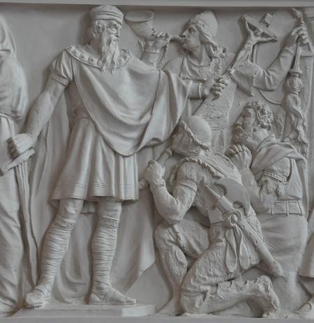 Reliëf met Karel de Grote, Roleand, Alboin en Widukind (Alta Nationalgalerie, Berlijn)