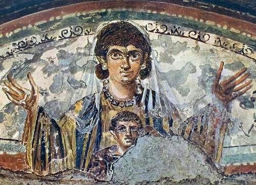 Maria met kind (Coemeterium Maius, Rome)