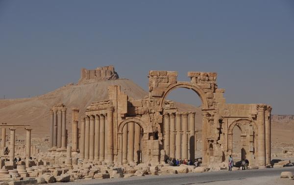Het kasteel van Palmyra in beter tijden