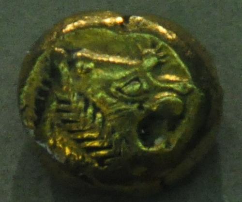 Een van de oudste munten ter wereld: een Lydische stater (Bode-museum, Berlijn)
