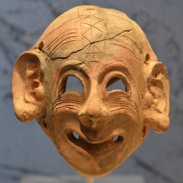 Karthaags masker, eind zesde eeuw (Bardo-museum, Tunis)