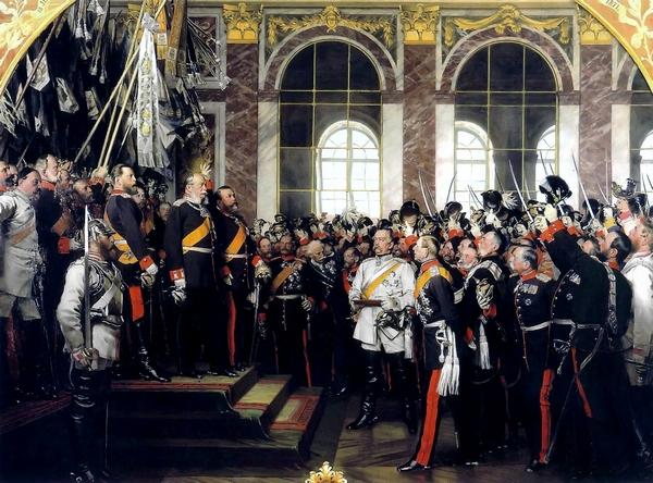 Wilhelm I uitgeroepen tot keizer van Duitsland in Versailles (schilderij van Anton von Werner)