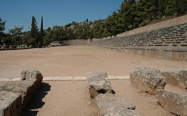 Het stadium in Delfi