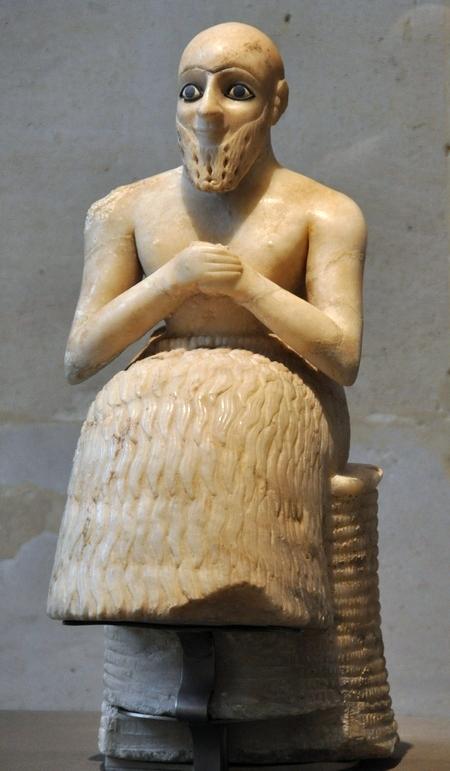 Beeldje van een tempelintendant (Louvre, Parijs)