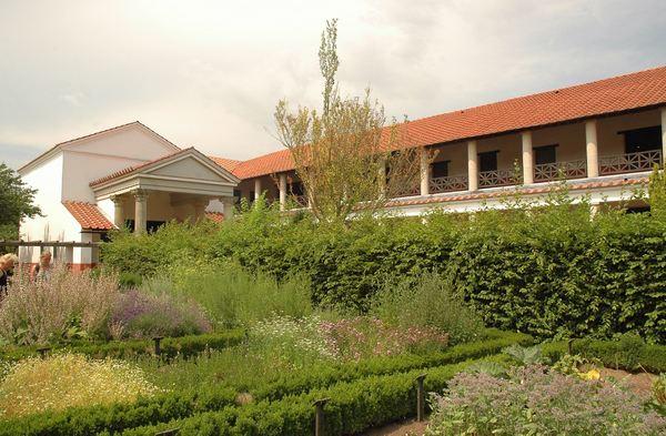 Gereconstrueerde herberg met tuin (Archeologisch Park, Xanten)