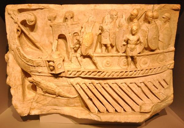 Reliëf van een zeeslag (Vaticaanse Musea)