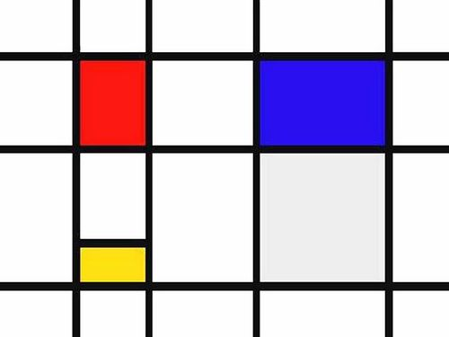 Composition in Red, Yellow, and Blue (© Piet Mondriaan)