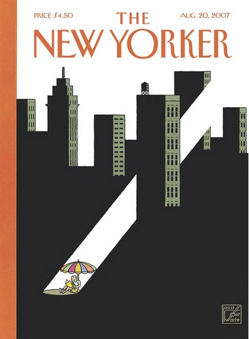 A cover of the New Yorker (© Joost Swarte)