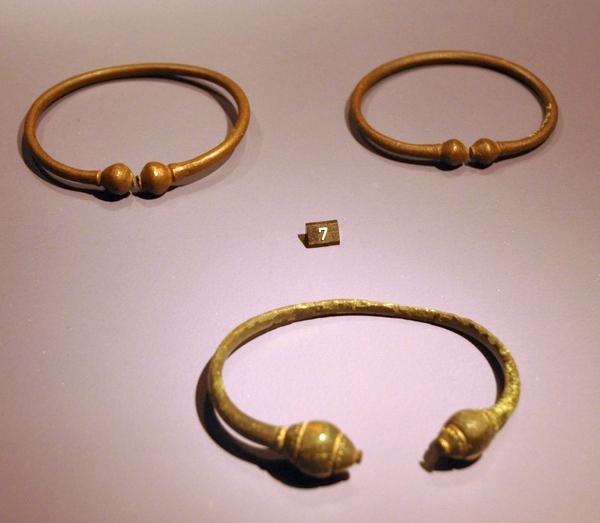 IJzertijdarmbanden uit Rossum (Rijksmuseum van Oudheden, Leiden)