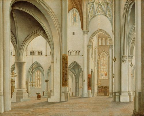 Pieter Saenredam, Interior of the Church of St. Bavo, Haarlem (Paul Getty Museum)