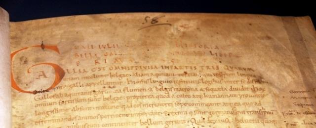 Manuscript van Caesars Gallische Oorlog (Biblioteca Nazionale, Napels)