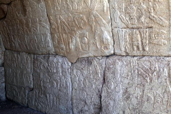 Hittitische hiëroglyfen in Hattusa