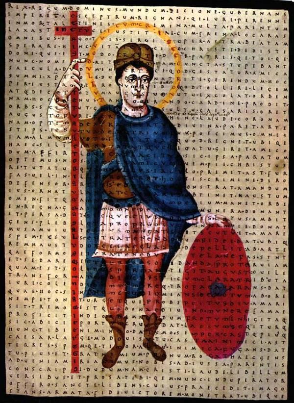 Lodewijk de Vrome (manuscript uit 826, Vaticaanse bibliotheek)