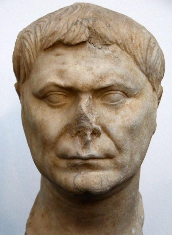Romeins mannenportet, laatste kwart eerste eeuw n.Chr. (Ny Carlsberg Glyptotek, Kopenhagen)