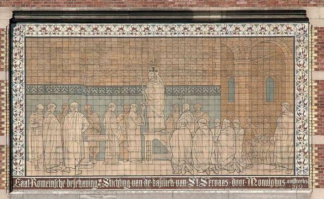 De inwijding van de grafbasiliek van Servatius in Maastricht (Rijksmuseum, Amsterdam)