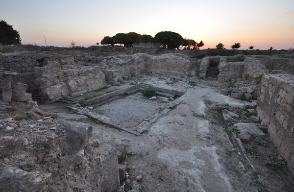 De ontvangsthal van het koninklijk paleis in Ugarit