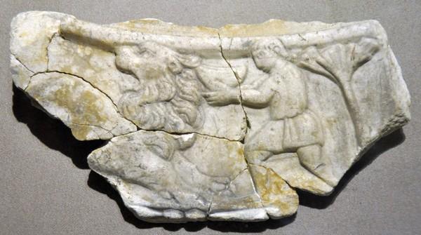 Daniël in de leeuwenkuil (Nationaal Museum, Beiroet)