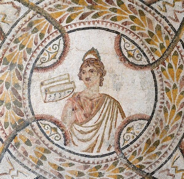thysdrus_house_months_mosaic_muses_c255-300ce_clio_1_mus_eldjem